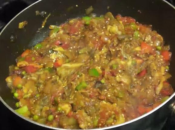 Eggplant-Bhartha