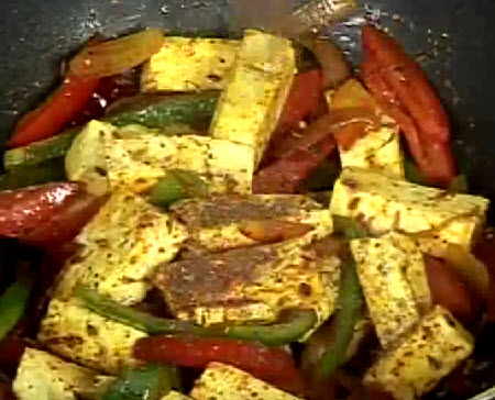 Paneer-jalfrezi Indian Vegetarian Dish